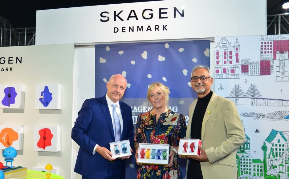 (L-R) Mr. Freddy Svane,Anita Vogel,Johnson Verghese at Skagen Jewelry Launch 2