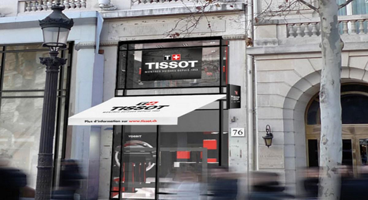 new tissot flagship boutique opens at champs elys es paris. Black Bedroom Furniture Sets. Home Design Ideas