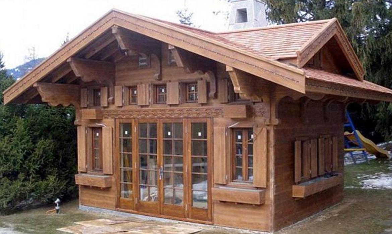 Альпийский домик своими руками