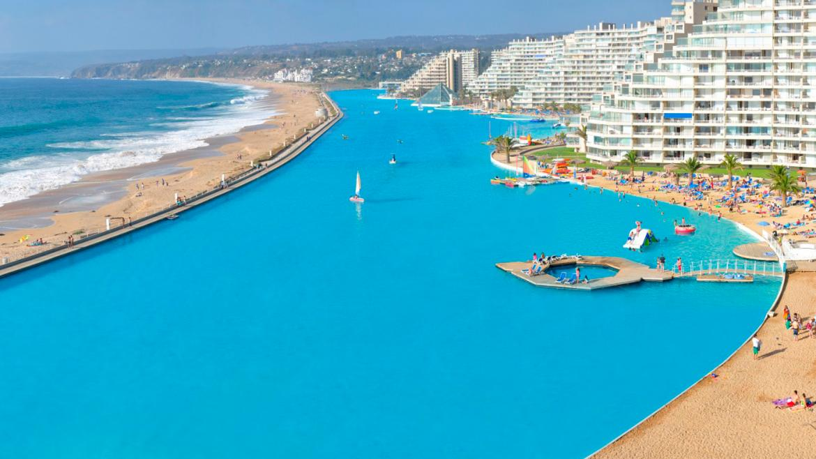 San alfonso del mar welcomes you to the world s largest - The biggest swimming pool in chile ...