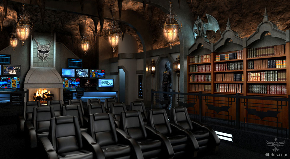 modern unique theme home theater designs | Fancy a Dark Knight themed custom home theater for $2 ...