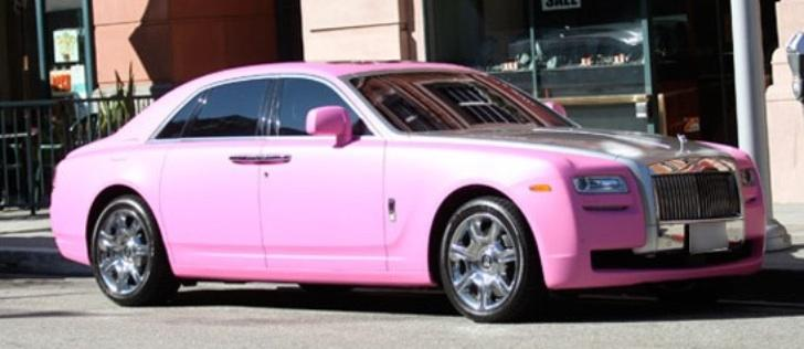 Petra Ecclestone Petrifies Onlookers With Her Pink Rolls