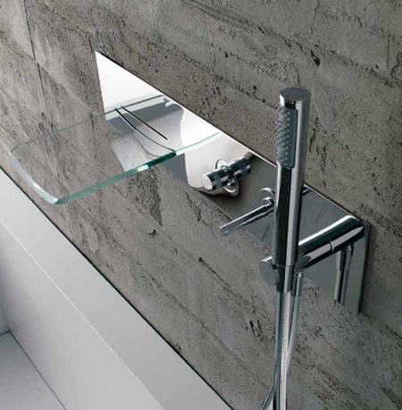 The Arya Glass Waterfall Faucet From Bandini