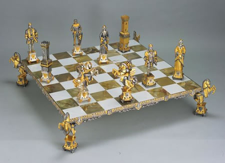 Medioevale Stile Medieval Style Themed Chess Pieces With