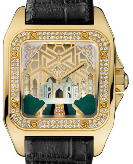 Limited Edition Cartier Santos 100 Taj Mahal Watch Just