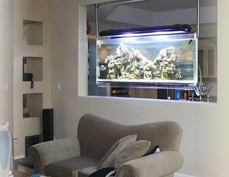 Spacearium Is Ceiling Mounted Aquarium For Your Den