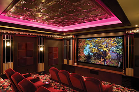 Genuine Cinema Experience In This Private Home Theater