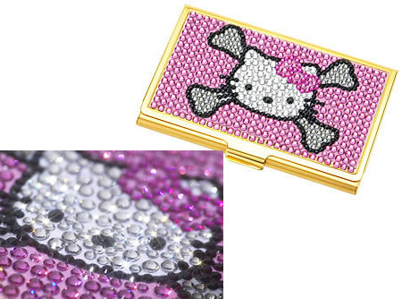 Hello kitty business card case in real gold hello kitty business card case in real gold reheart Choice Image