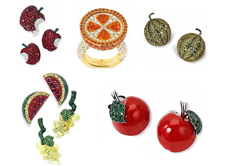 fruit jewelry fruity jewelry juices up your look 1561