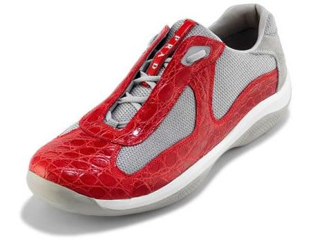 prada red sneakers
