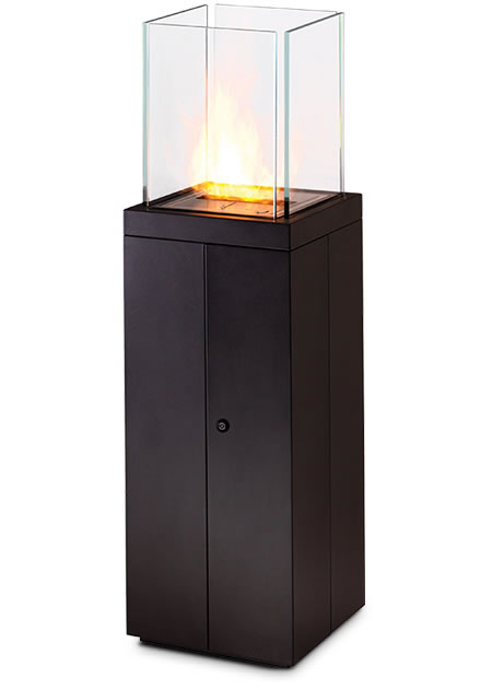Tower fire an eco friendly outdoor fireplace for Eco friendly fireplace