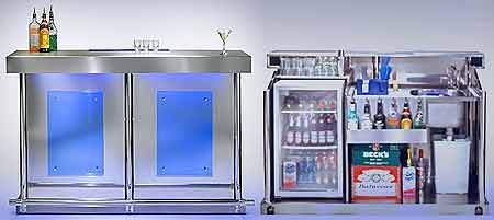Mobile bar with uv reactive panels - Mobili bar da appartamento ...
