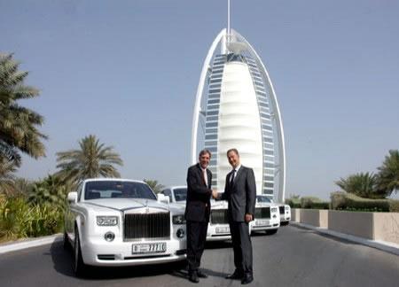 Burj-Al-Arab welcomes four new Rolls Royce Phantoms into ...