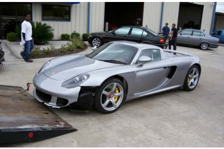 """Wrecked Cars For Sale >> Wrecked Porsche Carrera GT from """"Redline"""" for $100,000"""