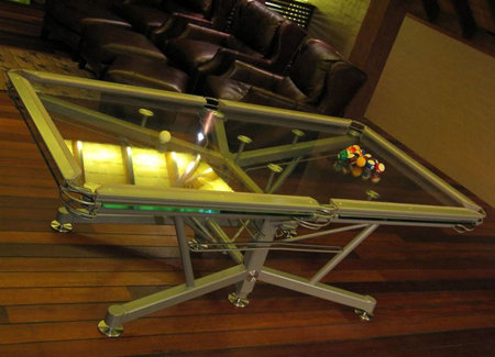 g1 glass top pool table the worlds first glass top table
