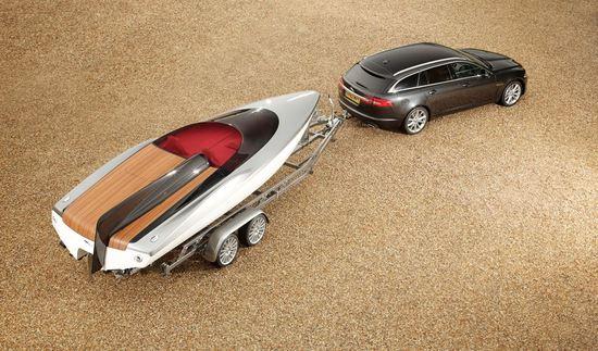 Jaguar concept speedboat complements the XF Sportbrake