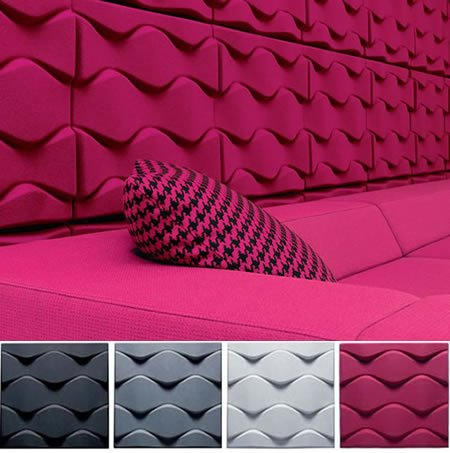 Karim rashid 39 s soundwave flo wall panels shun the noise for Sound proof wall padding