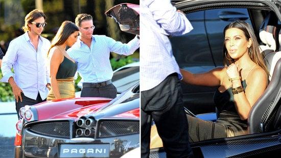 Kim Kardashian Checks Out America S First Pagani Huayra