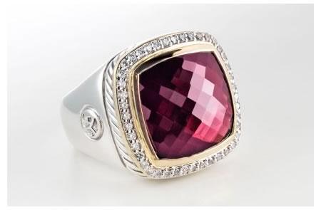 Albion Garnet Ice Ring By David Yurman