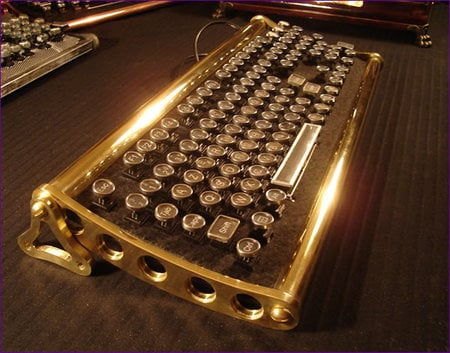Steampunk Von Slatt Original Quot Keyboard For A Retro Look