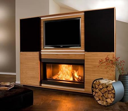 Vok S Home Theater Chimney System Is A Unique Display For