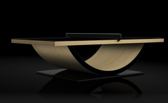 11Ravensu0027 Hand Crafted Theseus Table Tennis Table Makes The Game More Suave
