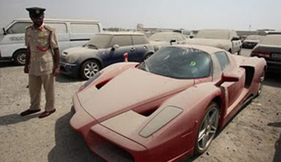 Abandoned Ferrari Enzo worth £1million to be auctioned off by Dubai police : Luxurylaunches