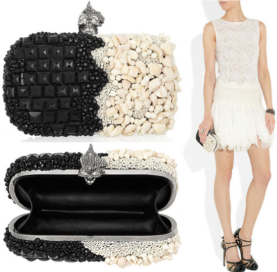 f550bb9e5407b The most endearing features of the Alexander McQueen clutches are the  clasps and the distinct themes that tell a story. Take for example the  Britannia ...