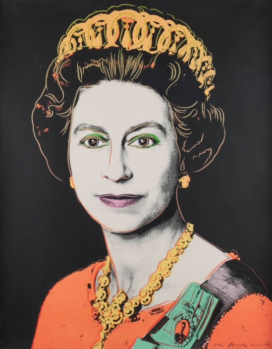 Andy Warhol S 1985 Portrait Of Queen Elizabeth Ii Is On Sale