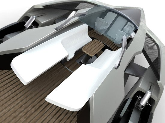 Audi Trimaran Yacht Sails With Two Jet Skis On Its Side Pods
