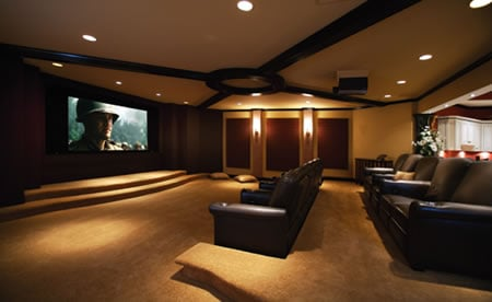 Basement Is A Home To Super Wide Cinemascope Home Theater