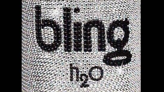 Bling H20 S Swarovski Encrusted Dubai Collection Bottle