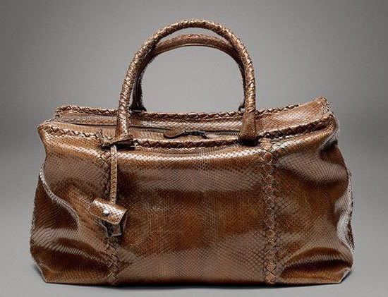 0986493be834 Bottega Vea Chene Python Brick Bag Is Beauty To Behold