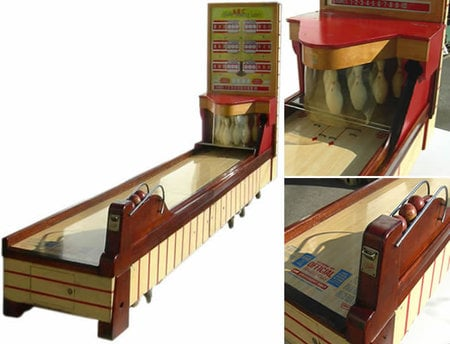 1950 S Bally Abc Bowling Lanes Arcade Game Rolls In Some