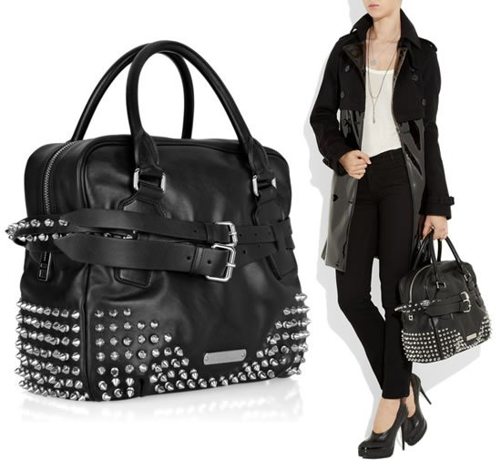 Burberry-black-leather-bowling-bag-1