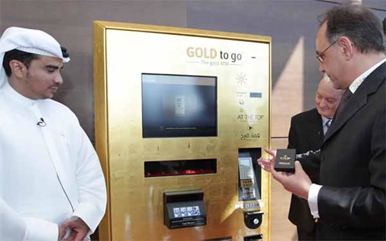 Gold vending machines soar high at Burj Khalifa's observation deck : Luxurylaunches