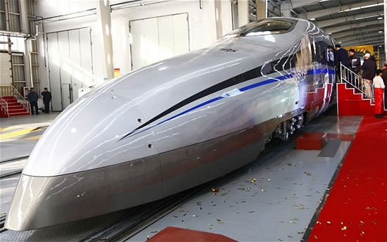 China's new bullet train prototype is the fastest at 300mph : Luxurylaunches