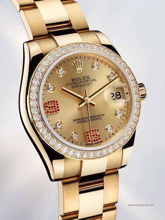 Rolex oyster perpetual datejust lady 31 and lady datejust watches presented at baselworld for Rolex date just 31