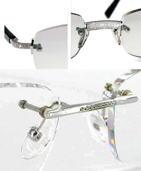 Prestige: Diamond studded eyeglass frame for $55,000 -