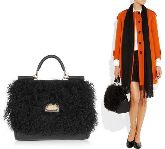 Dolce-and-Gabbana-Textured-leather-and-shearling-tote-1-thumb-550x496