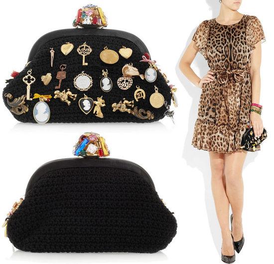 2129b7c868 Dolce   Gabbana charm-embellished woven wool clutch -