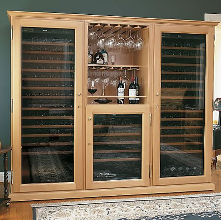 Let your wine age in style inside sturdy wood cabinet wine cellars from EuroCave & Let your wine age in style inside sturdy wood cabinet wine cellars ...