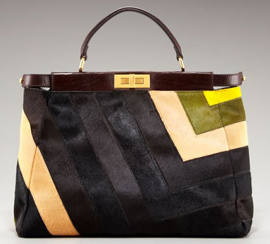 Fendi Calf Hair Kaboo Tote For Sophisticated Style