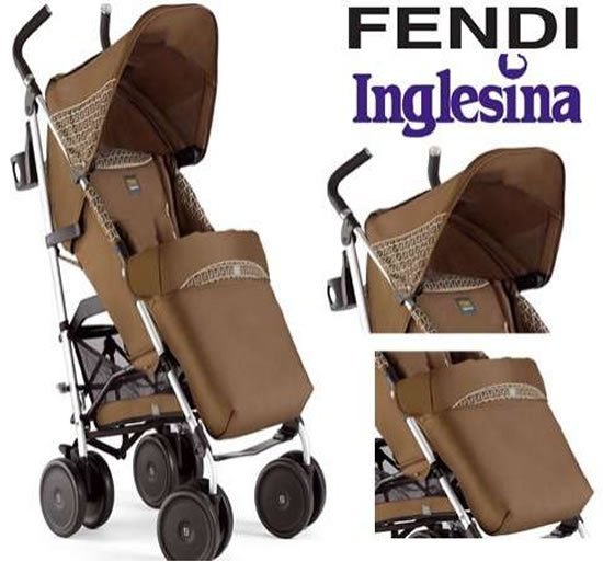 Fendi inglesina luxury baby stroller lets your little one for Mercedes benz baby pram