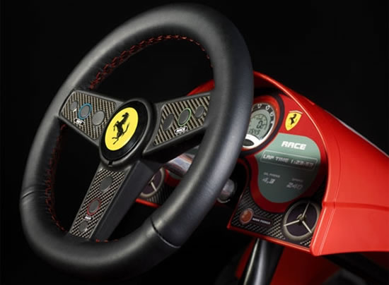 ferrari fxx racers pedal go kart3jpg rc car large steering wheel electric toy