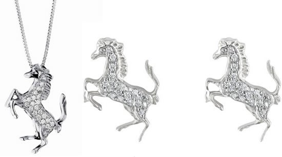 Ferrari_Prancing_horse_diamond_earrings_pendant
