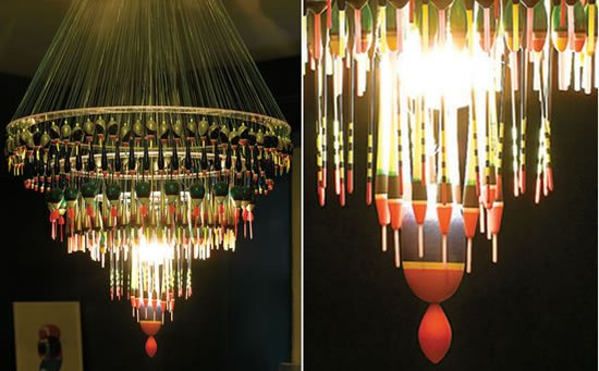 Most Expensive Cars >> Fishing Float Chandelier to light up a fisher's den