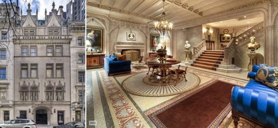 A 90 million french gothic townhouse for sale in manhattan for Manhattan townhouse for sale