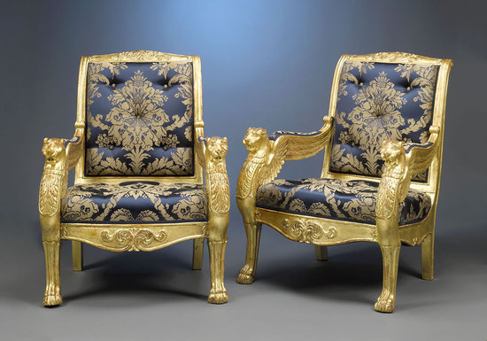 Gilded-antique-French-armchairs-1-thumb-550x385