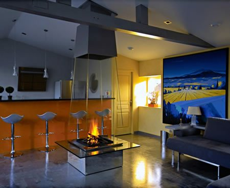 Simply Best >> Glass Fireplace by Bloch-Design is ultimate